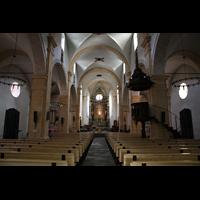Martigny, Notre-Dame de la Visitation, Innenraum in Richtung Chor
