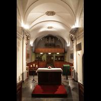 Choëx, Saint-Silvestre, Innenraum in Richtung Orgel