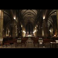 Lyon, Saint-Bonaventure, Innenraum in Richtung Chor und Orgel