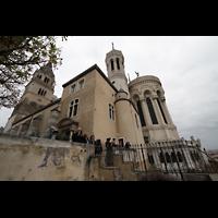 Lyon, Notre-Dame de Fourvière, Außenansicht von Osten