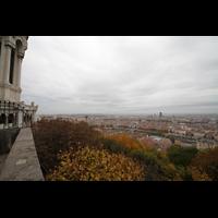Lyon, Notre-Dame de Fourvière, Blick vom Berg der Basilika auf die Stadt
