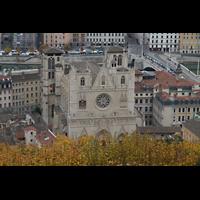 Lyon, Cathédrale Saint-Jean (Chororgel), Ansicht von Notre-Dame de Fourvière