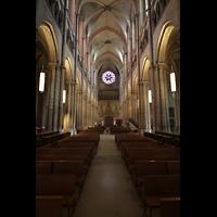 Lyon, Cathédrale Saint-Jean (Chororgel), Haupthaus in Richtung Rückwand