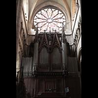 Lyon, Cathédrale Saint-Jean (Chororgel), Hauptorgel im südlichen Querhaus