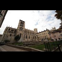 Lyon, Cathédrale Saint-Jean (Chororgel), Gesamtansicht von außen