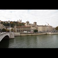 Lyon, Cathédrale Saint-Jean (Chororgel), Saône und Kathedrale