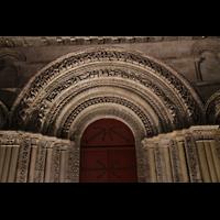Bordeaux, Sainte-Croix, Figuren am Haupttorbogen