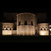 Bordeaux, Sainte-Croix, Außenansicht vom Chor bei Nacht