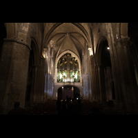 Bordeaux, Sainte-Croix, Hauptschiff in Richtung Orgel