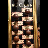 Bordeaux, Sainte-Croix, Registerzüge von der Grand Orgue