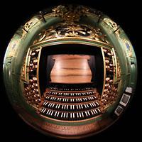 Bordeaux, Sainte-Croix, Spieltisch und Orgelprospekt