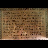 Bordeaux, Sainte-Croix, Manufakturschild von Dom Bedos 1748