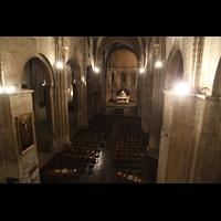 Bordeaux, Sainte-Croix, Blick von der Orgelempore in die Kirche