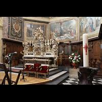 Bordeaux, Notre-Dame (Hauptorgel), Chorraum mit Chororgel