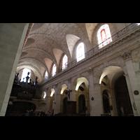 Bordeaux, Notre-Dame (Hauptorgel), Seitenwand des Hauptschiffs mit Orgel