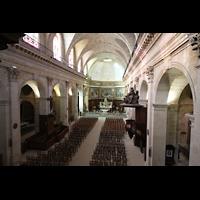 Bordeaux, Notre-Dame (Hauptorgel), Blick von der Orgelempore in die Kirche