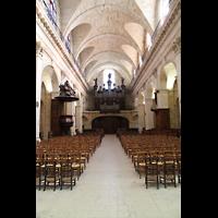 Bordeaux, Notre-Dame (Hauptorgel), Innenraum in Richtung Orgel
