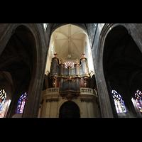 Bordeaux, Saint-Michel (Chororgel), Rückwand mit Orgelempore