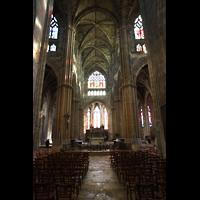 Bordeaux, Saint-Michel (Chororgel), Querhaus und Chorraum