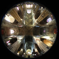 Bordeaux, Saint-Michel (Chororgel), Innenraum Gesamtansicht
