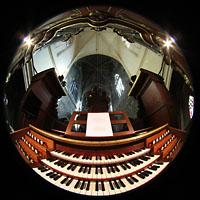 Bordeaux, Saint-Michel (Chororgel), Spieltisch und Orgel