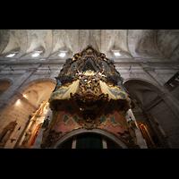 Santanyí (Mallorca), Sant Andreu, Orgelempore mit Blick ins Gewölbe