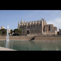 Palma de Mallorca, Catedral La Seu, Ansicht von der Meeresseite aus