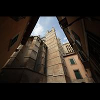 Palma de Mallorca, Catedral La Seu, Strebepfeiler des Hauptschiffs am Chor