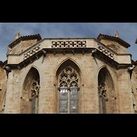 Palma de Mallorca, Catedral La Seu, Spitzbögen und Dach des Chores