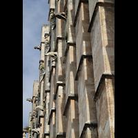 Palma de Mallorca, Catedral La Seu, Strebepfeiler mit Figurenschmuck an der Südwand