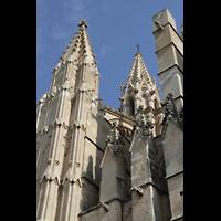 Palma de Mallorca, Catedral La Seu, Türme an der Westwand