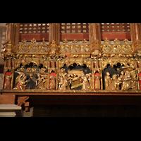 Palma de Mallorca, Catedral La Seu, Linke Seite des Figurenschmucks an der Südwand