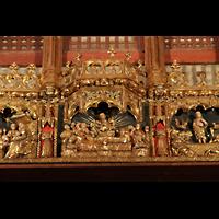 Palma de Mallorca, Catedral La Seu, Mittelteil des Figurenschmucks an der Südwand
