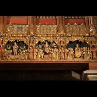 Palma de Mallorca, Catedral La Seu, Rechte Seite des Figurenschmucks an der Südwand