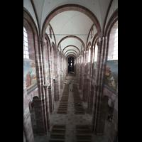 Speyer, Kaiser- und Mariendom, Blick von der Orgelempore ins Hauptschiff