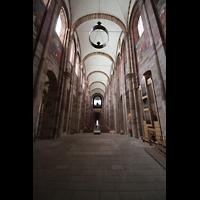 Speyer, Kaiser- und Mariendom, Blick vom Chor zur Haupt- und Chororgel