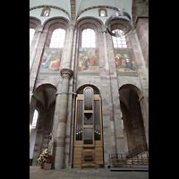 Speyer, Kaiser- und Mariendom, Chororgel und linker Chorraum