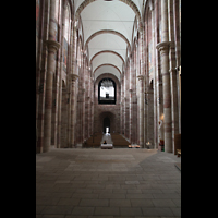 Speyer, Kaiser- und Mariendom, Blick vom Chor in Richtung Hauptorgel