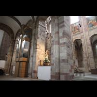Speyer, Kaiser- und Mariendom, Blick zum Rücken der Chororgel und in den südlichen Chorraum