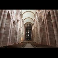 Speyer, Kaiser- und Mariendom, Innenraum in Richtung Kaiserchor