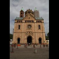 Speyer, Kaiser- und Mariendom, Fassade mit Westtürmen