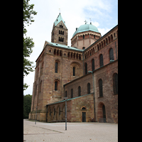 Speyer, Kaiser- und Mariendom, Nordquerhaus mit Vierungskuppel und Osttürme