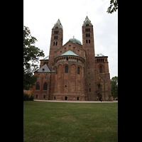 Speyer, Kaiser- und Mariendom, Choransicht von außen