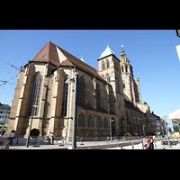 Heilbronn, Kilianskirche - Chororgel, Außenansicht von der Kaiserstraße aus gesehen