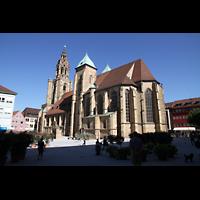 Heilbronn, Kilianskirche - Chororgel, Außenansicht vom Kiliansplatz aus gesehen
