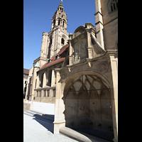 Heilbronn, Kilianskirche - Chororgel, Siebenröhrenbrunnen vor der Kirche