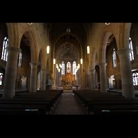 Heilbronn, Kilianskirche - Chororgel, Hauptschiff in Richtung Chor