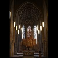 Heilbronn, Kilianskirche - Chororgel, Chorraum