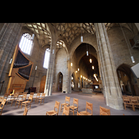 Heilbronn, Kilianskirche - Chororgel, Gesamtansicht des Innenraums mit Chor- und Hauptorgel