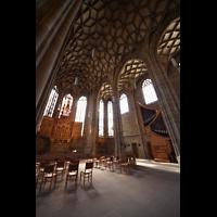 Heilbronn, Kilianskirche - Chororgel, Chorraum mit Netzgewölbe